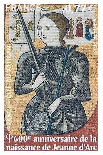Timbre Jeanne d'Arc Domremy la Pucelle