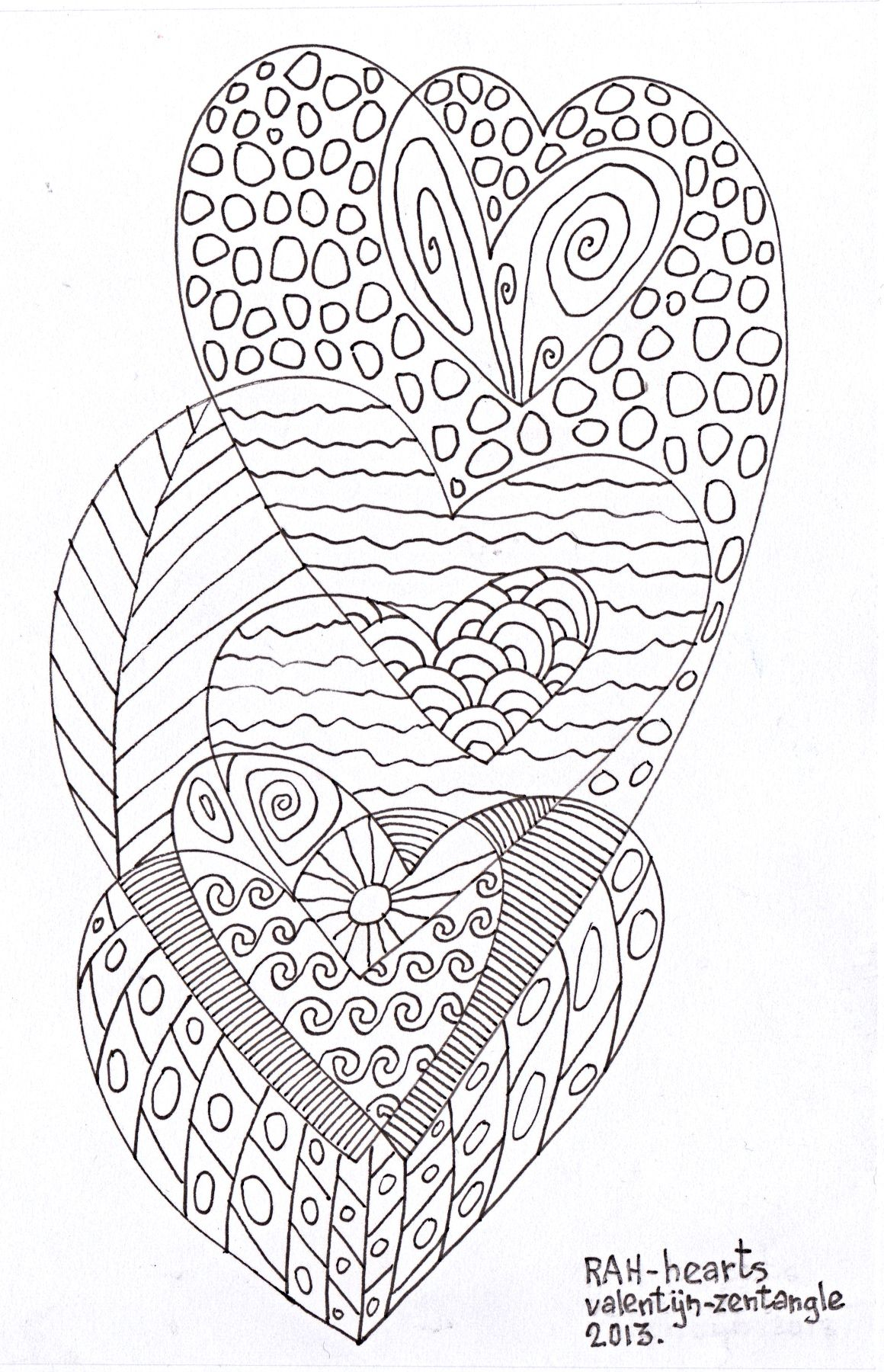 zentangle hearts 1   Dibujos   Pinterest   Arte inspirador, Mandalas ...