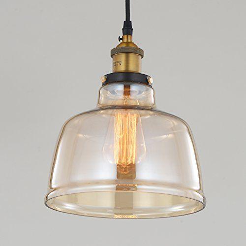 RH RUIVAST Vintage Glass Shade 1 Light Pendant Lighting Fixture