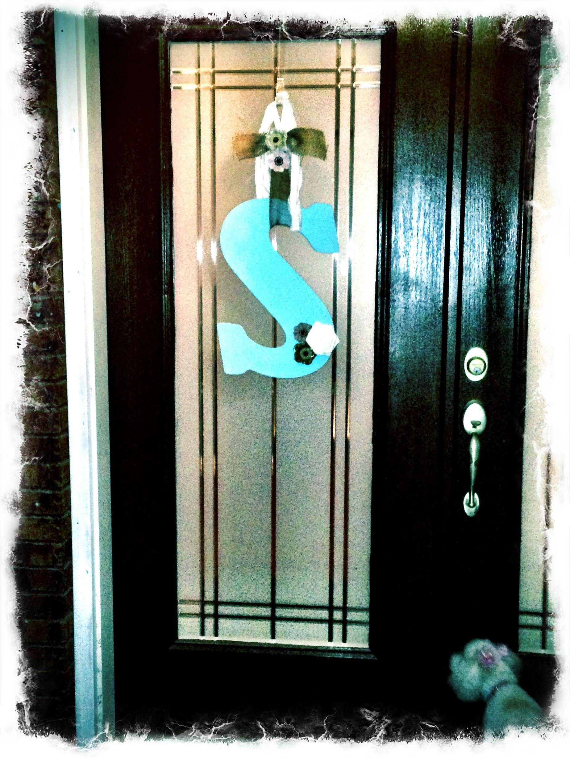 Front Door Letter S Door Wreath Hanger Front Door Letters Door Letters