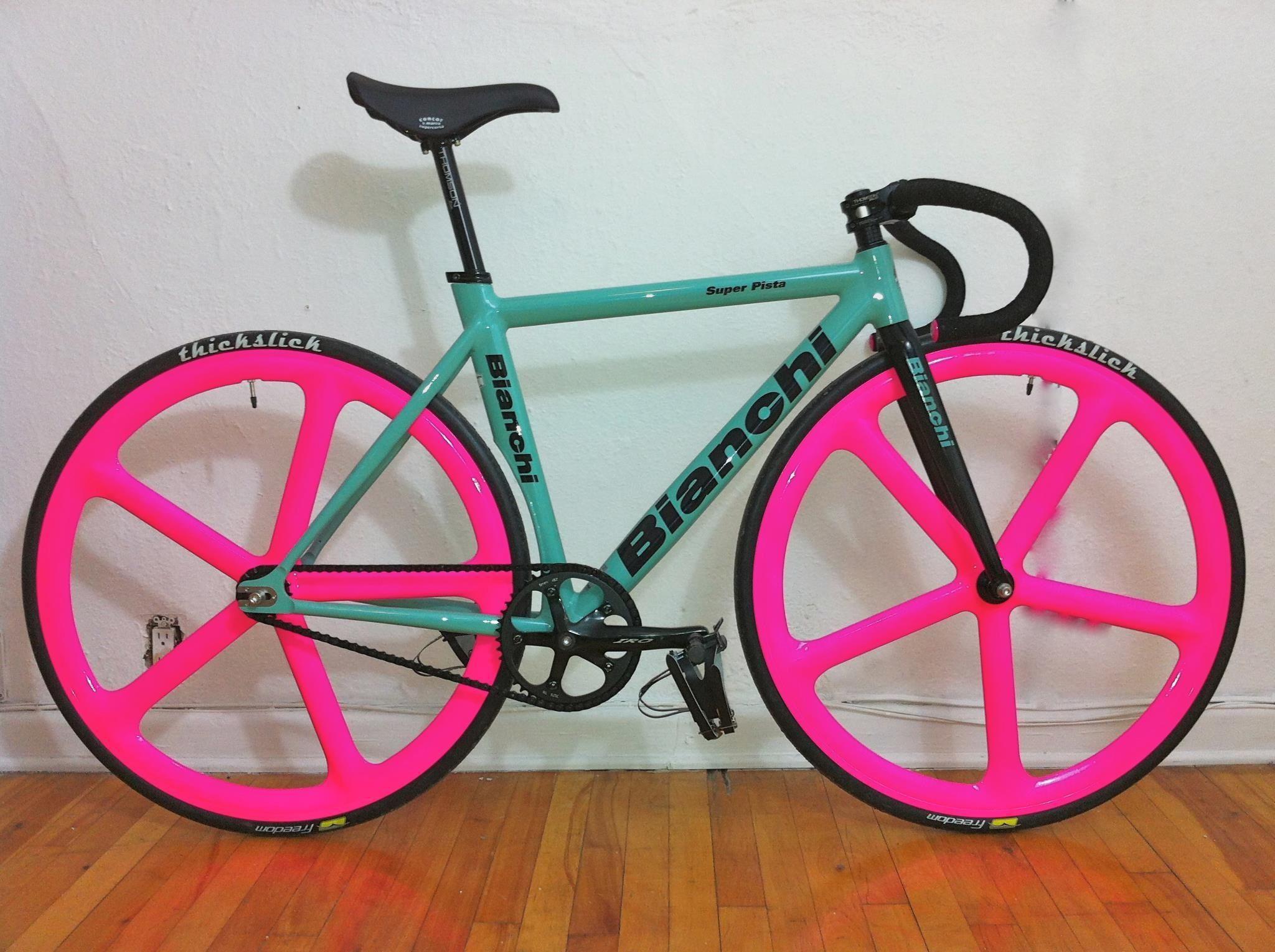 Those Hot Wheels On My Matte Black Fix Perfect Pink Bike