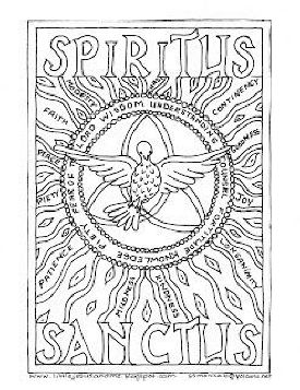 Holy Spirit Coloring Page Coloring Pages Catholic Crafts