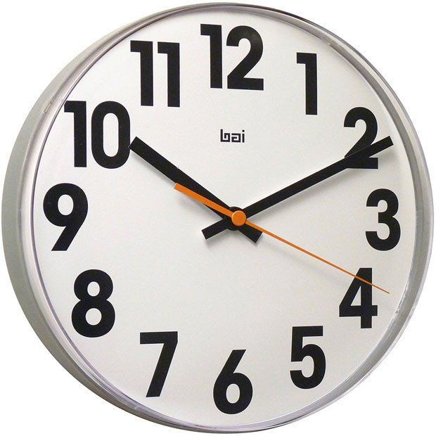 Large Font 11 Inch Lucite Wall Clock Wall Clock Large Digital Wall Clock Clock