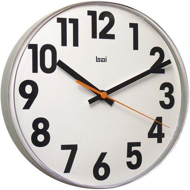 Large Font 11 Inch Lucite Wall Clock Clock Modern Clock Clock Decor