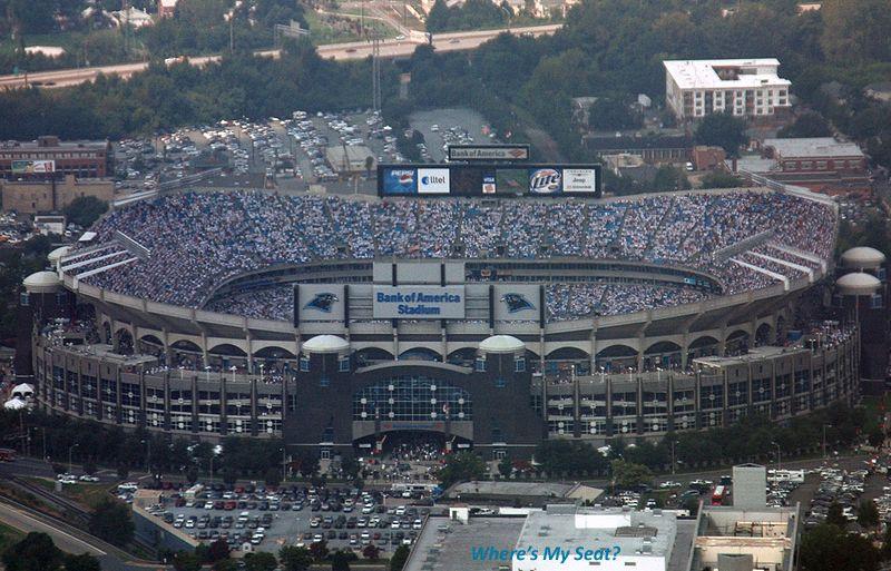 Home wheres my seat bank of america stadium bank of