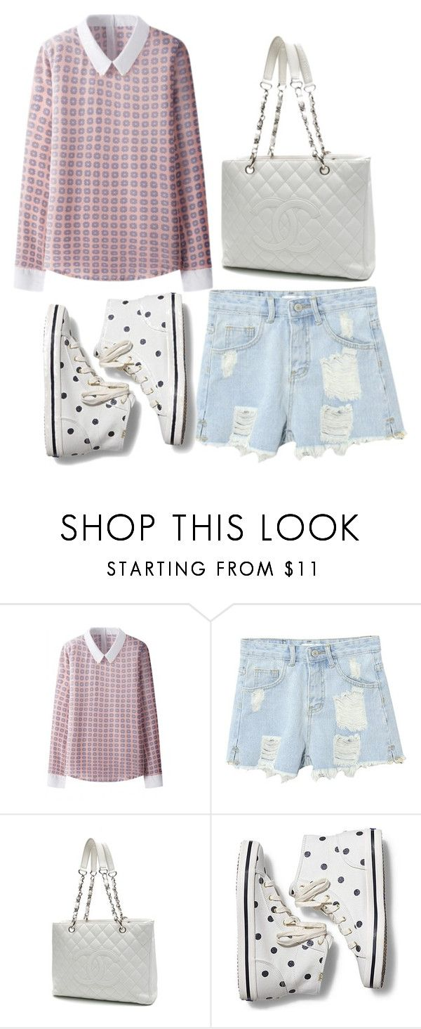 """short & shorts"" by beautifulhalo ❤ liked on Polyvore featuring Chanel, Keds, women's clothing, women, female, woman, misses and juniors"