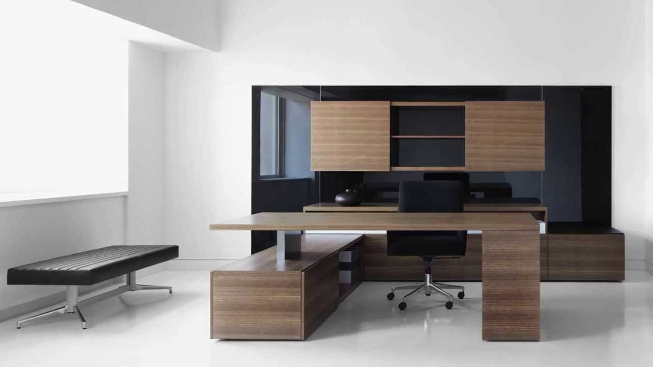 Adding Dark Wood Accents To Black Furniture Creates A Warm Luxurious Office E That S Sure Turn The Heads Of Your Guests And Clients