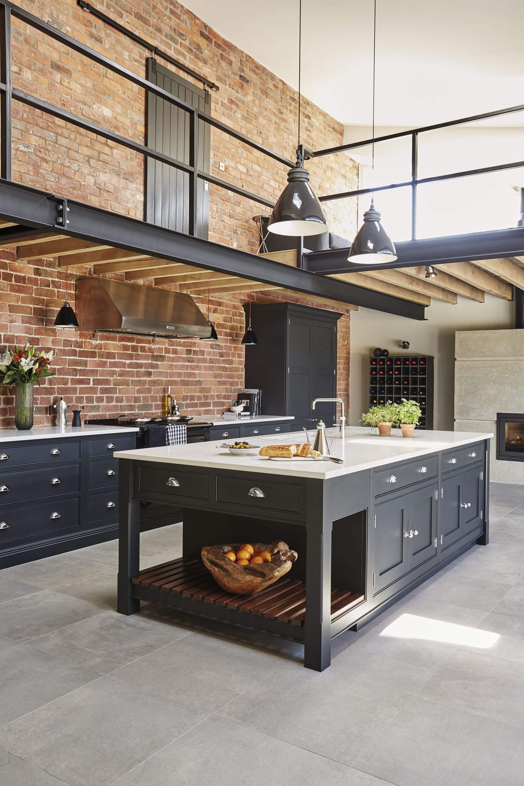 Best This Industrial Style Shaker Kitchen Features Exposed 400 x 300