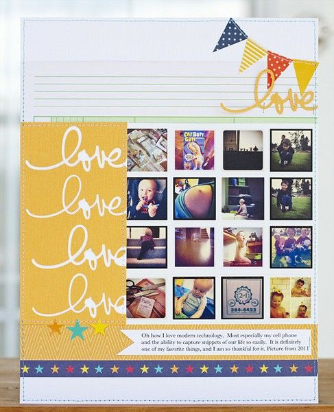 #papercraft #scrapbook #layout Love Love Love by @Laura Jayson Craigie - Two Peas in a Bucket