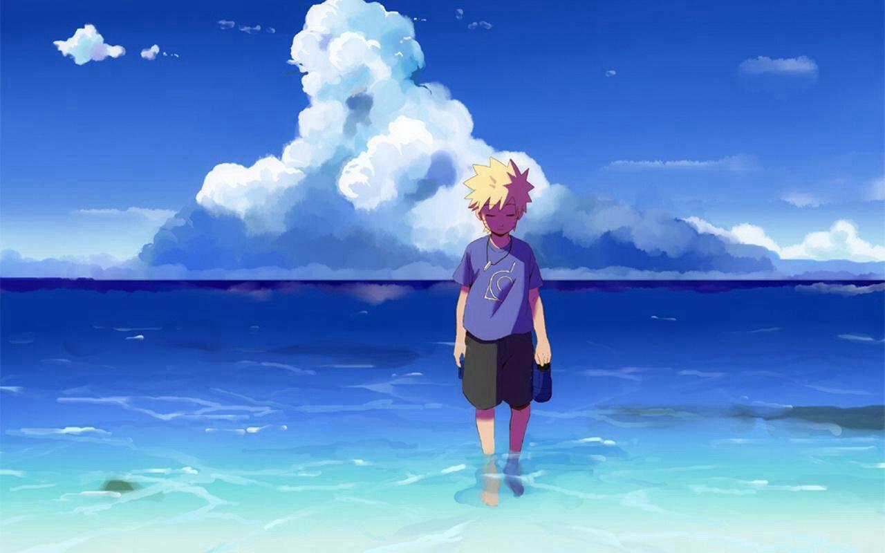 Naruto Anime Art Beach Ocean Naruto Pictures Naruto Naruto Uzumaki
