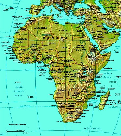 air mountains africa map