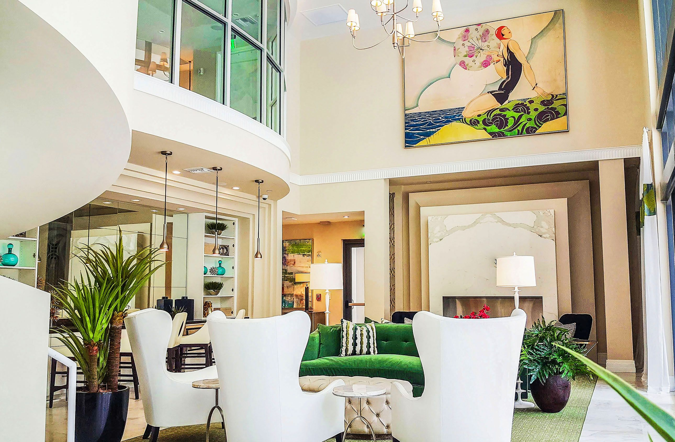 Best apartment community clubhouse amenity design spaces