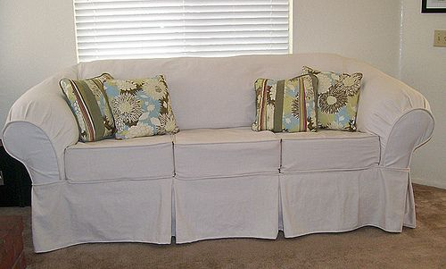 Diy Couch Slipcover Knock Off Pottery Barn Sewing