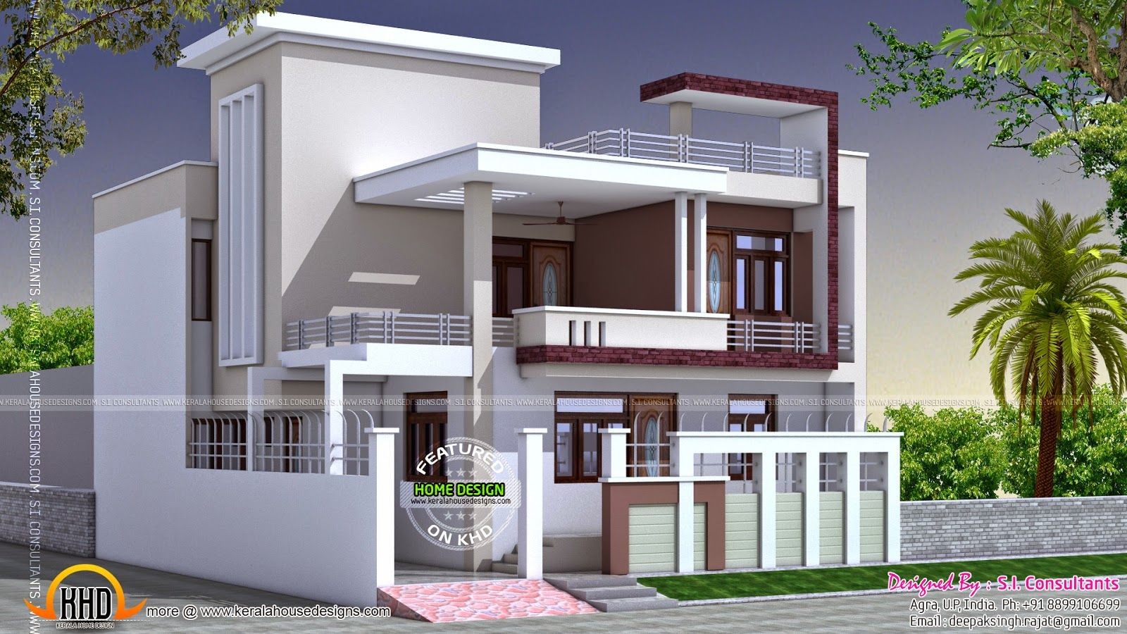small beautiful home keralahousedesigns story home elevation sq ft