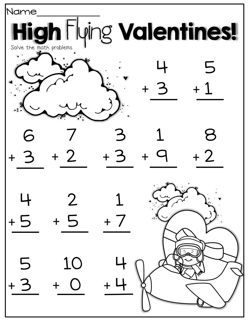 Interactive Math Packet Subtraction Up To 20