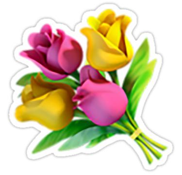 Flowers Emoji Sticker By Nerdychick Emoji Stickers Emoji Templates Flowers