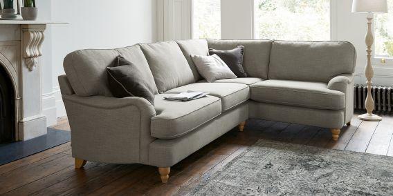 buy ophelia formal back large sofa 3 seats belgian soft twill light natural low turned light. Black Bedroom Furniture Sets. Home Design Ideas