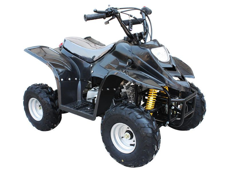 "ATV031 110cc ATV Automatic Transmission, Air cooled, Front Double A Swing Arm Suspension, Front Drum/Rear Disc Brakes, 6"" Wheels"