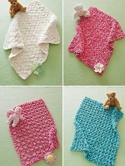 4 Easy Baby Blankets Crochet Patterns Pinterest Easy Baby