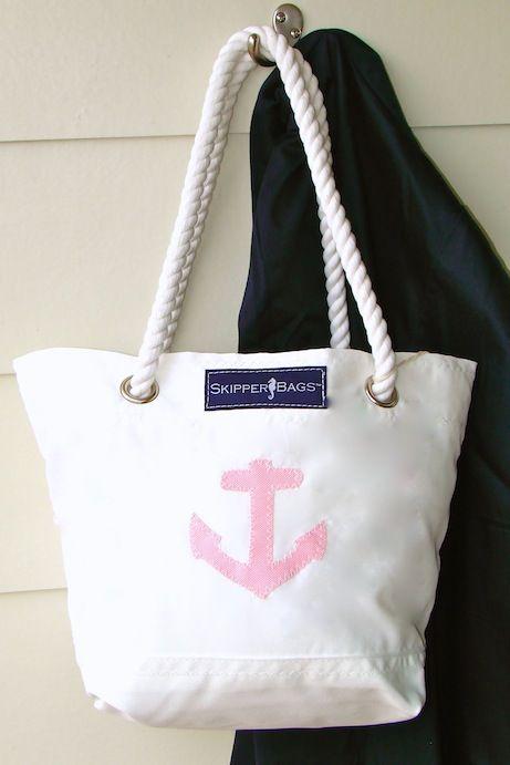 Ladies Nautico Knot design Spiaggia//Shopping Bag Red//Navy