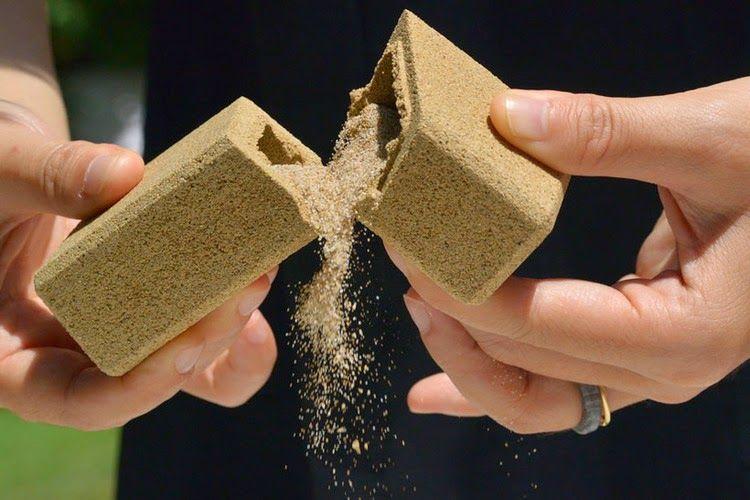 Embalagem totalmente feita de areia