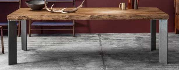 encimera madera patas hierro