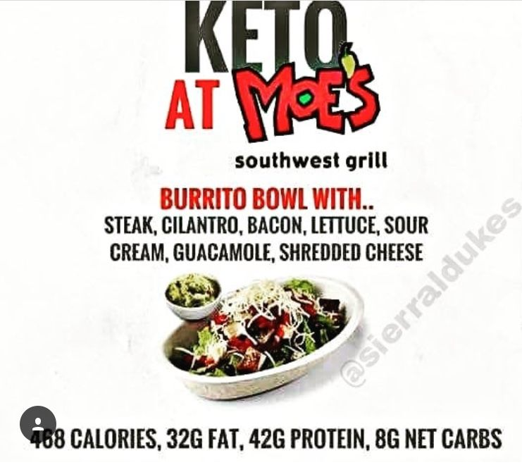 Keto At Moe S Low Carb Eating Fast Healthy Meals Keto Diet Guide