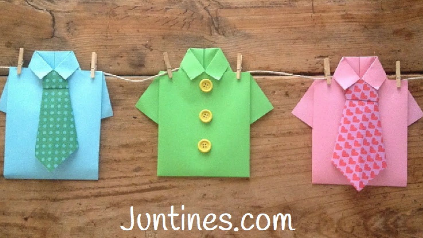 Easy Origami For Kids - Paper Shirt Ideas | paper craft ... - photo#28