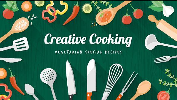 Creative Cooking Design Background Vectors 04 Cooking Design Vegan Recipes Recipe Images