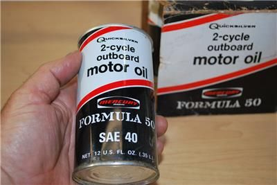 Quicksilver oil can mercury formula 50 lubricant vintage 2