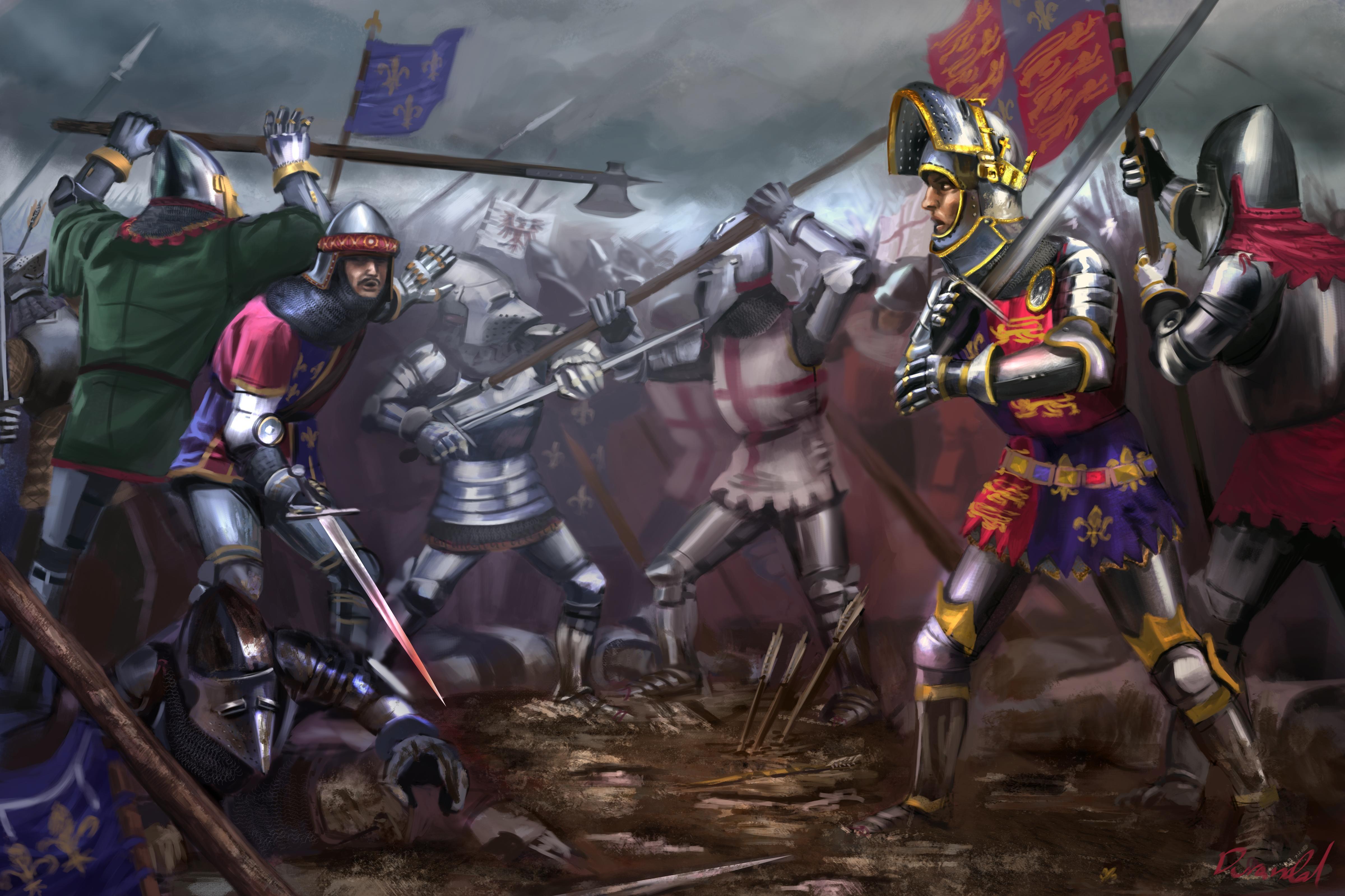 The Battle of Agincourt, Hundred Years War | Hundred Years War Art ...