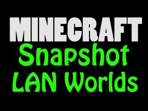 Minecraft Snapshot Wa Singleplayer World Hosting Ie LAN World - Minecraft pe server erstellen linux