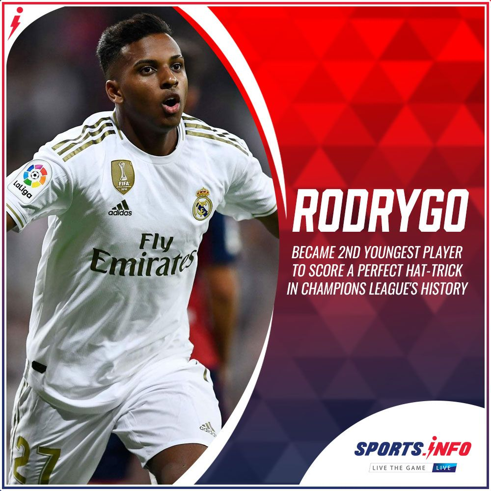 Real Madrid S Footballer Rodrygo Scored A Perfect Hat Trick In Champions League 2019 20 Champions League European Soccer League