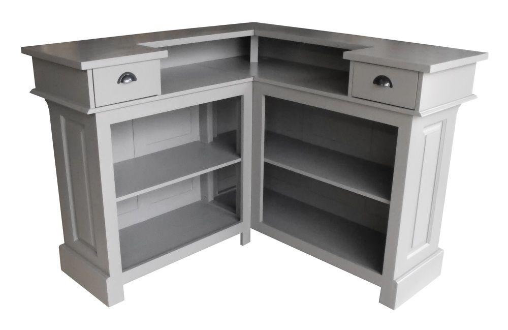un bar d 39 angle en 140cm x 140cm ici pr sent avec un plateau et un corps de meuble en 100 pin. Black Bedroom Furniture Sets. Home Design Ideas