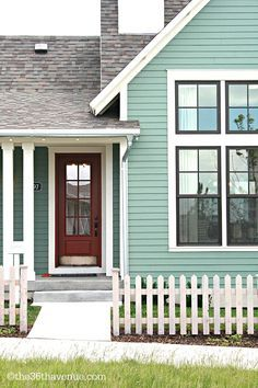 grey blue exterior paint - Google Search | House Exterior Ideas ...