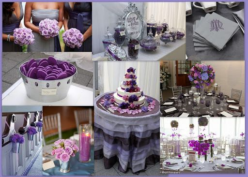 Purple And Silver Wedding Centerpieces Silver Wedding