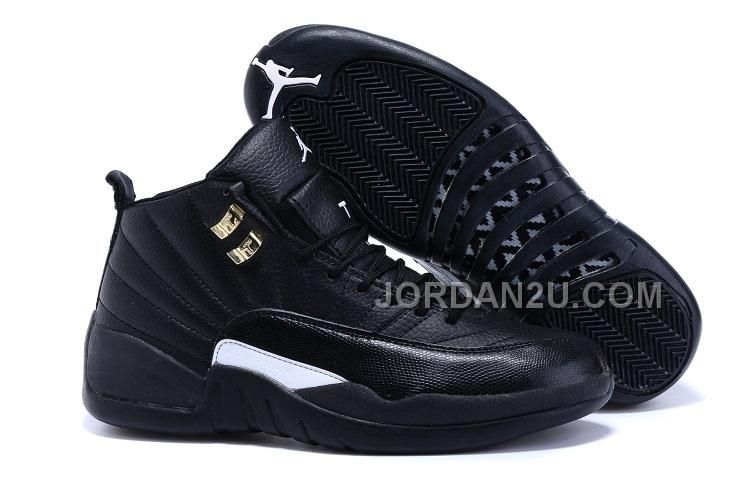 """2aef7222a2d1 Find Quality New Style Air Jordan 12 """"The Master"""" Black Rattan-White-Metallic  Gold and"""