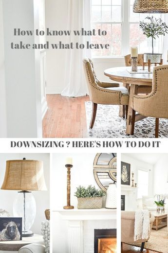 Downsizing? You need to know what will and won't work in your new home. And what you should and should not take. Here's how I did it. #stonegable #stonegableblog #homedecor #decorating #downsizing #homesweethome #beautifulhome #homedecoratingideas