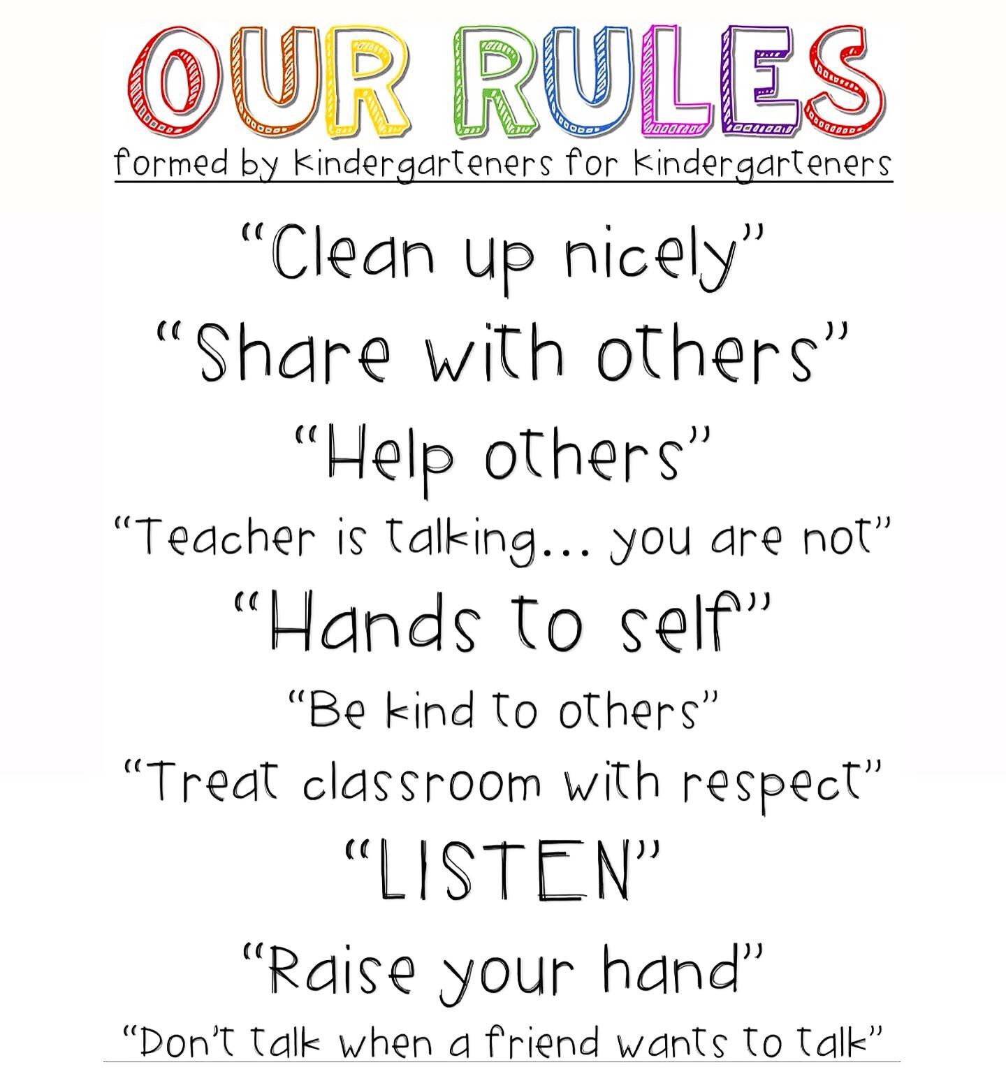 Free Classroom Rules