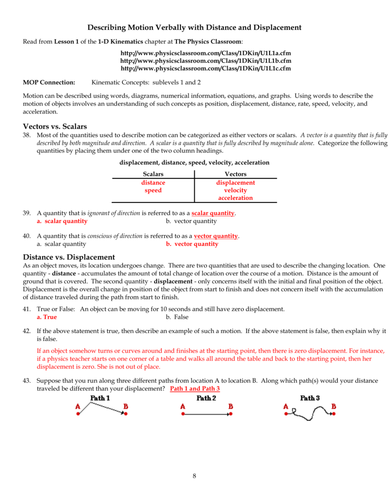 Distance And Displacement Worksheet : distance, displacement, worksheet, Distance, Displacement, Worksheet, Promotiontablecovers