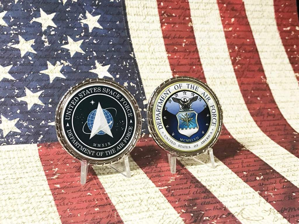 U.s. space force coin in 2020 Military gifts, Coin