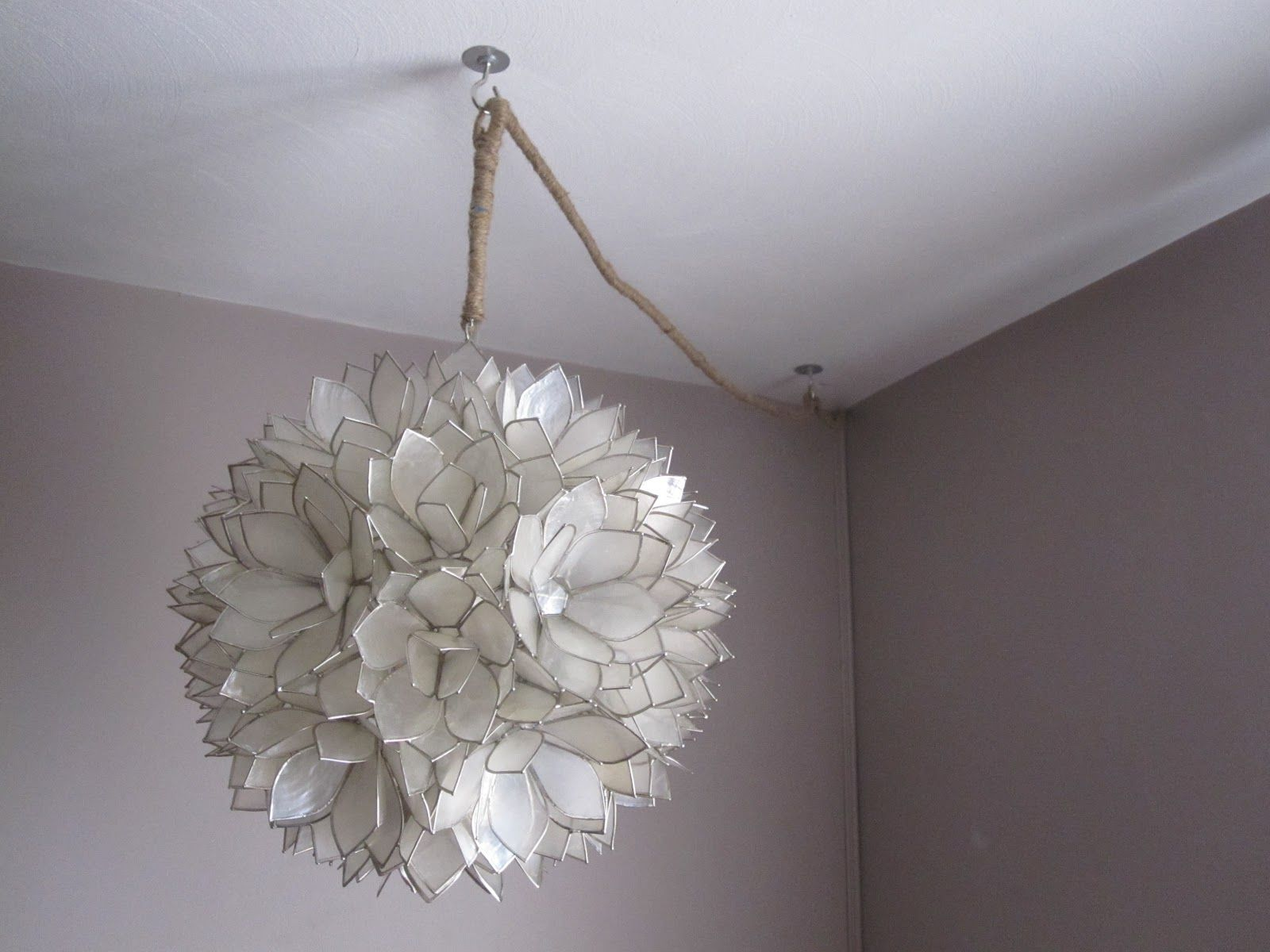 Using Molding To Hide Hanging Lamp Cord