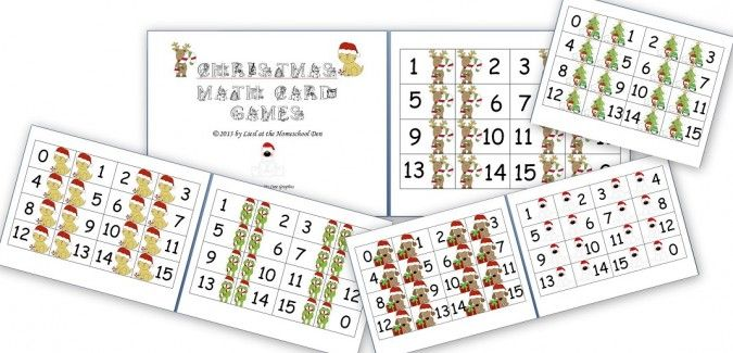 in this post youll find free christmas themed math cards and various math - Christmas Card Games