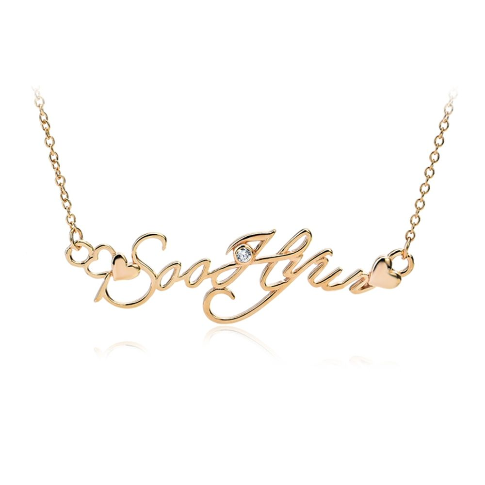 sterling silver jewelry rose gold plated letter you who came