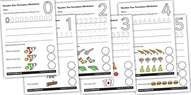 Twinkl Resources >> Number Formation Worksheets