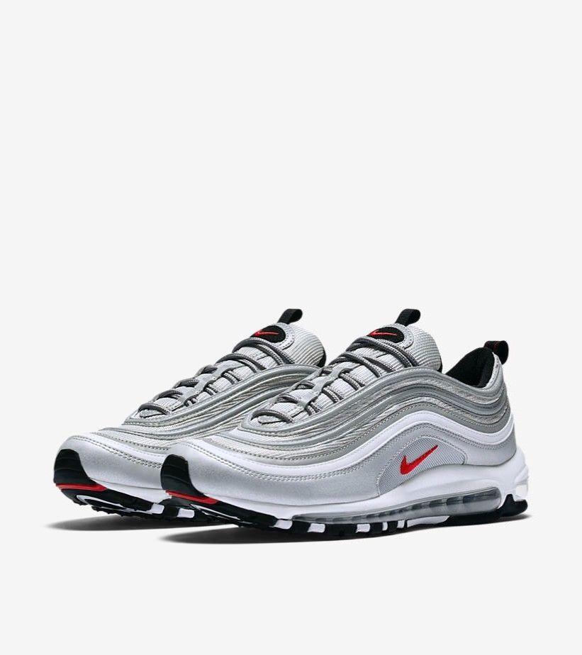 Nike Air Max 97 Silver Bullet QS Metallic Silver Grey Mens 884421
