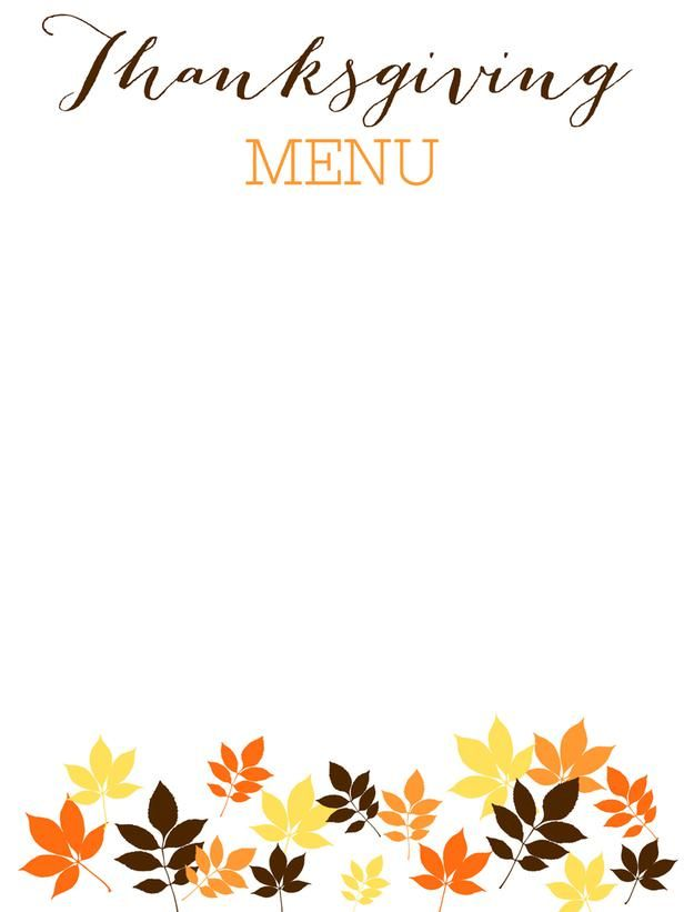 picture relating to Printable Thanksgiving Menu referred to as 31 Printable (and Free of charge!) Thanksgiving Templates