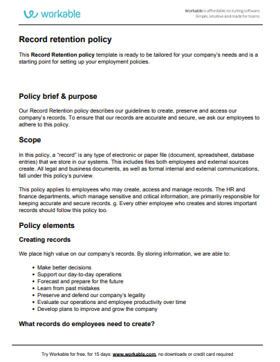 Data Retention Policy Template The Essential Guide To Gdpr Template Sumo Policy Template Templates Policies