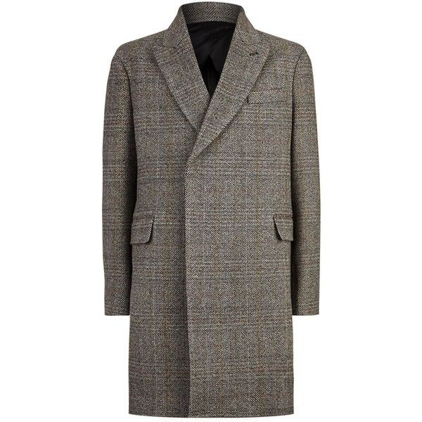 Stella McCartney Single-Breasted Tweed Coat ($1,695) ❤ liked on Polyvore  featuring men's