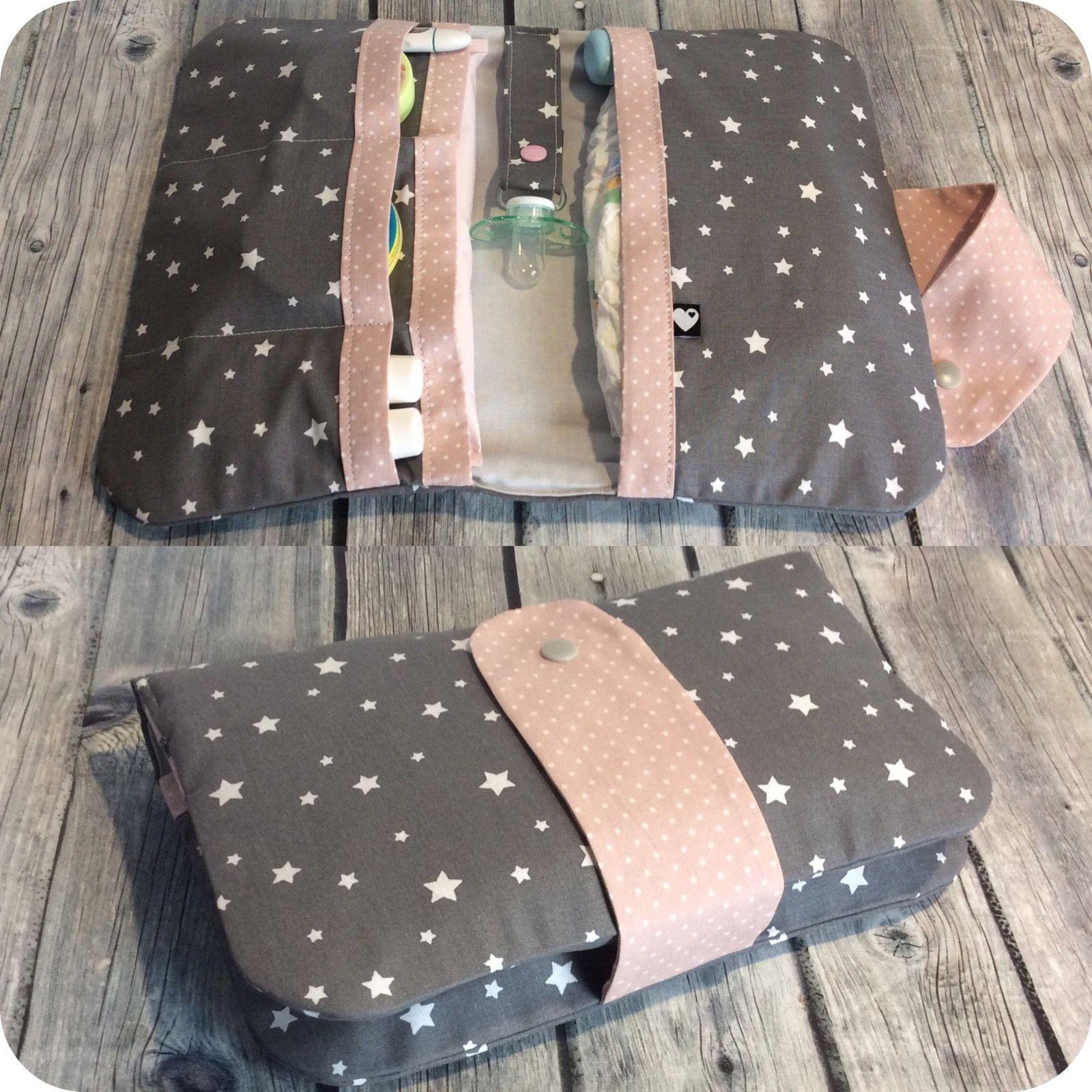 windeltasche sterne punkte schnullerband wickeltasche unikat geschenk baby windeltasche. Black Bedroom Furniture Sets. Home Design Ideas